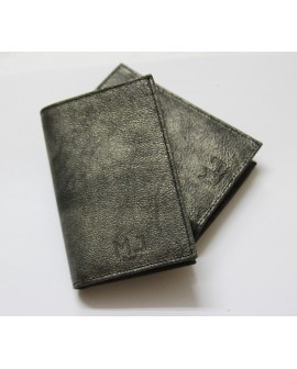 mj leather wallet