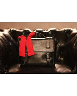 Leather messenger  bag for women