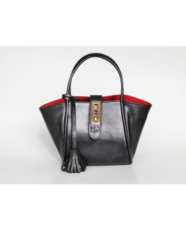 Fifi- leather handbag - leather  women shoulder strap bag