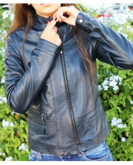 Nina - Leather  genuine women  Jacket