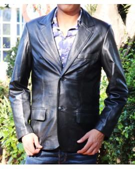 - Jacket cuir Homme - cuir véritable agneau