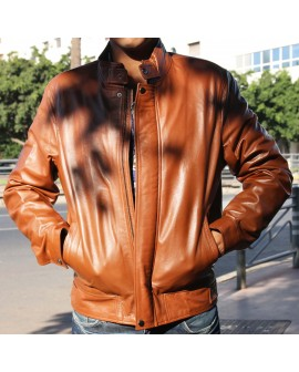 - Leather  genuine men  Jacket