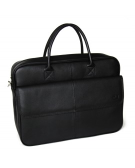 BRUNO -Leather black briefcase MJ -Bag -Satchel -Moroccan Handmade -