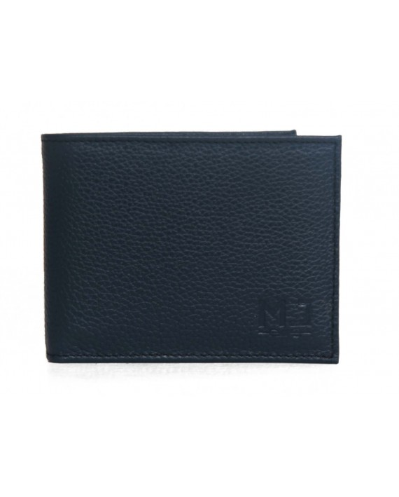 WOLF  -   LEATHER WALLET FOR MEN - Black leather wallet - handmade