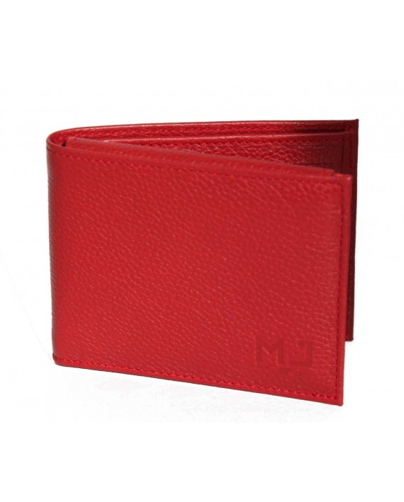 WOLF  -   LEATHER WALLET FOR MEN - RED leather wallet - handmade