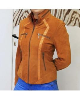 Elia - jacket en cuir véritable