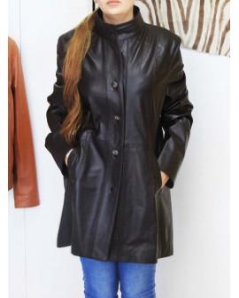 LINA-Blouson en cuir véritable