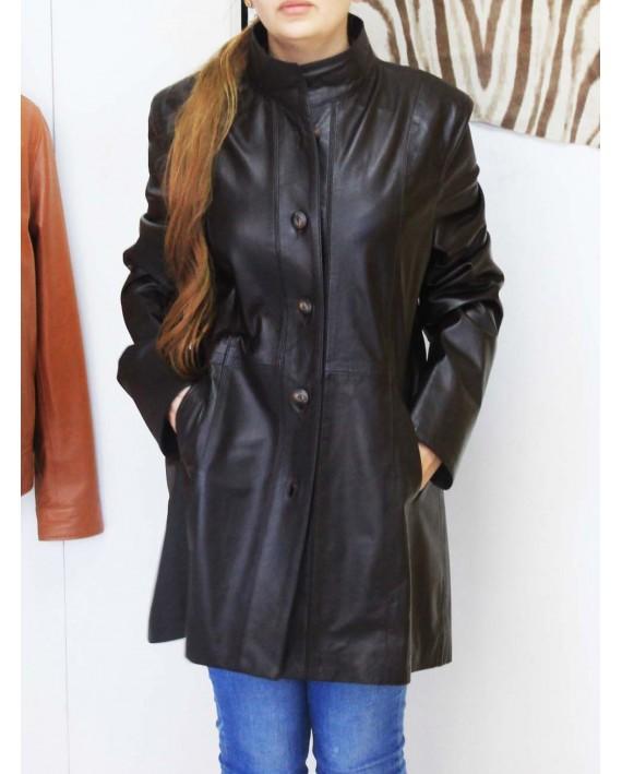 Lina- Leather genuine blouson